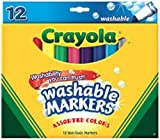 Crayola Washable Markers - Assorted Colors - 12 Count