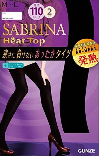 (グンゼ)GUNZE SABRINA Heat Top(サブリナ ヒートトップ) 110デニールタイツ〈同色2足組〉 SB610 026 ブラック M-L