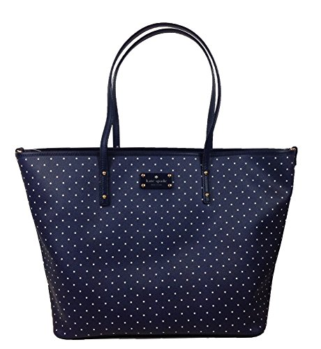 Kate Spade New York Kennywood Harmony Baby Bag, French Navy / Cream Polka Dot - 1