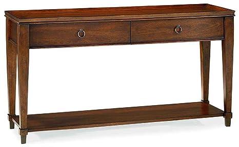 Hammary Sunset Valley Sofa Table in Rich Mahogany