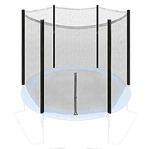 Ultrasport Filet de sécurité pour trampoline de jardin Noir noir 251 cm