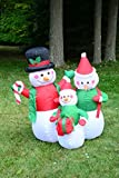 Christmas Inflatable 4 Feet Snowmen Family Yard Decoration