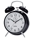 Acctim 12623 Saxon Alarm Clock, Black