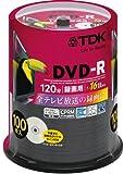 TDK 録画用DVD-R CPRM対応 16倍速対応 パールカラーディスク 100枚スピンドル DR120DC100PUD