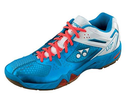 YONEX SHB-02MX Scarpa da Badminton Uomo, Blu/Bianco/Rosso, 47
