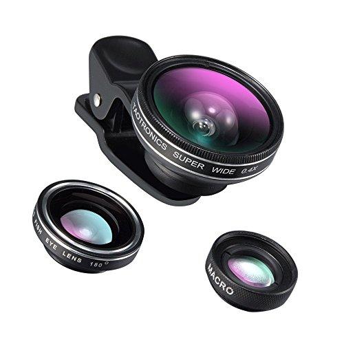 TaoTronics カメラレンズキット クリップ式 3点セット(魚眼、マクロ、広角レンズ) スマートフォン タブレットPC用 TT-SH014