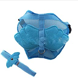 JJ Store Adjustable Angle Wing Rabbit Ferret Pig Harness Leash Lead Strap Nylon