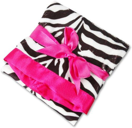 Pink Zebra Baby Blanket front-171025