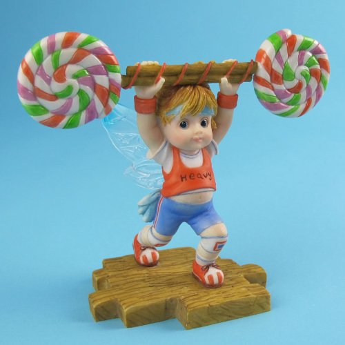 My Little Kitchen Fairies From Enesco Girl Lifting Lollipop Weight Figurine 4.25 In
