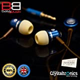 In Earphones Headphones with MIC MP3 Controller + Swarovski elements - SMOOTH BASSBUDSby BassBuds In Ear Earphones