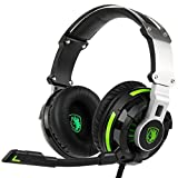 SADES SA933 Virtual 7.1 Channel Surround Sound headphones with Retractable Mic USB PC Gaming Headset Stereo Professional headsets Noise-Canceling Volume Control LED Light(BlackGreen)