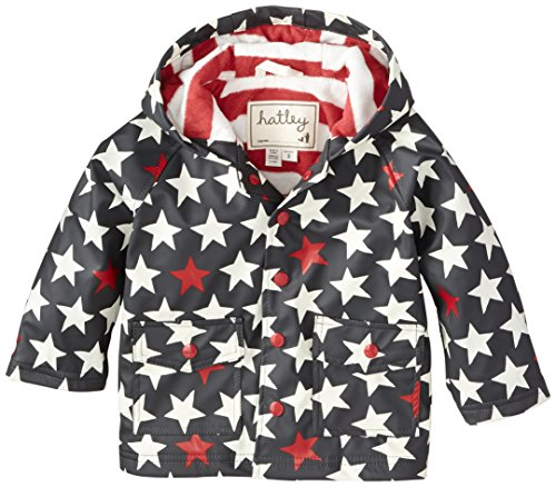 Hatley Little Boys' Little Boys' Raincoat Bright Stars, Grey, 4 front-851290