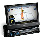 BOSS Audio BV9980NV In-Dash Single-Din 7-inch Motorized Detachable Touchscreen DVD/CD/USB/SD/MP4/MP3 Player Receiver with Navigation Bluetooth Streaming Bluetooth Hands-free with Remote