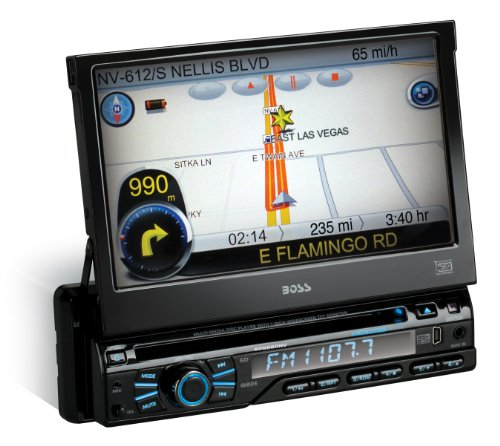 BOSS AUDIO BV9980NV Single-DIN 7 inch Motorized Touchscreen DVD Player Receiver GPS Navigation, Bluetooth, Detachable Front Panel, Wireless Remote (2012 Chevy Cruze Navigation compare prices)