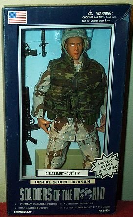 Buy Low Price Formative International Soldiers of the World Desert Storm Air Assault 12″ Poseable Figure (B000NKSAPY)