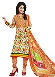 LolyDoll Women's Cotton Unstitched Dress Material DMSKD2_Yellow