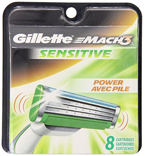 Gillette Mach3 Sensitive Cartridges 8 Count (Packaging May Vary)
