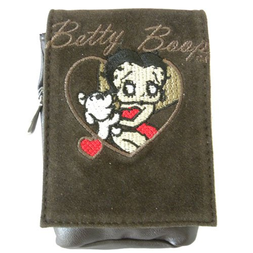 Betty Boop brown cover for mobile phone or cigarette cases