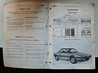 Fiat X 1/9 Speciale - Hauptmerkmale - Ku...