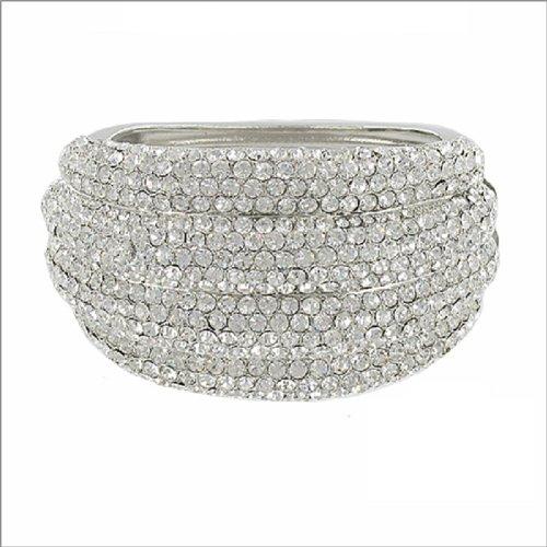 Designer Inspired Stone Hinged Bracelet #039096