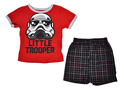 Disney Toddler Star Wars Tee and Shorts Set (Red, 2T)