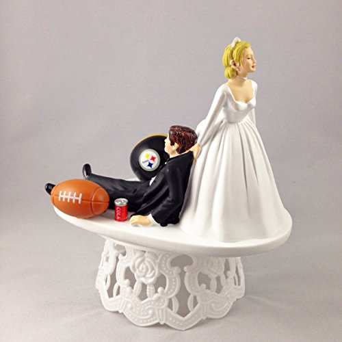 Pittsburgh Steelers Football Cake Topper