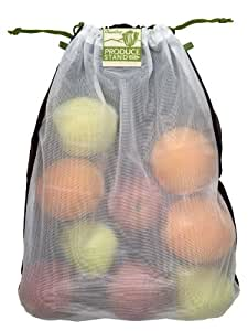 ChicoBag Produce Stand rePETe Mesh 3 Pack (Recycled PET) Reusable Produce Bags (Set of 3)