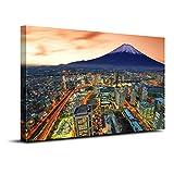 【リブラLibra】アートパネル 「富士山の眺め」 キャンバス絵画 38*58cm (A)