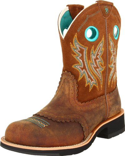 e331ba8d33106 Ariat Women's Fatbaby Cowgirl Western Cowboy Boot, Powder/Brown/Tan, 7 B