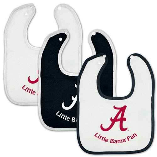 Alabama Crimson Tide Official Ncaa Infant One Size Baby Bib Set By Mcarthur front-725060