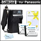 2 Pack Battery And Charger Kit For Panasonic LUMIX DMC-SZ7, DMC-TS25 Digital Camera Includes 2 Extended Replacement (900Mah) DMW-BCK7 Batteries + Ac/Dc Rapid Travel Charger + LCD Screen Protectors + MicroFiber Cleaning Cloth