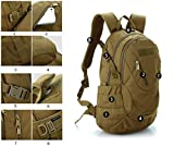 LEMONBEST® 20L WARGAME Outdoor Backpack Traveling Exploration Backpack Daypack Brown