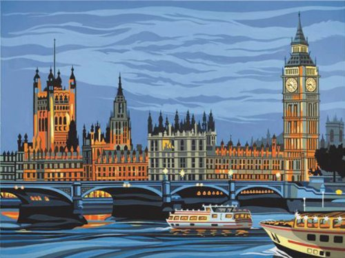 Reeves Paint by Numbers Houses of Parliament (Large)