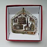 Washington D.C. Christmas ORNAMENT Brass DC City Souvenir Travel Gift