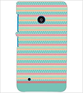 PrintDhaba Tribal pattern D-1794 Back Case Cover for NOKIA LUMIA 530 (Multi-Coloured)