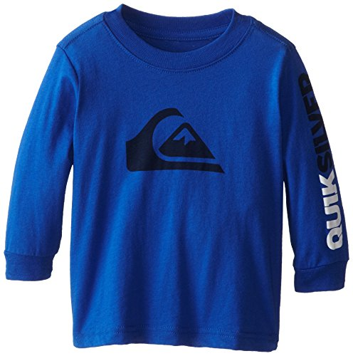 Quiksilver Baby-Boys Infant Mountain And Wave Long Sleeve Tee, Neon Blue, 12 Months front-941937