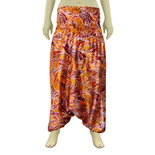 Unisex Aladdin Afghani Pant In Sateen Fabric With Bobin Style Waist (Free Shipping) Afpt0046