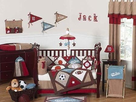 Sweet Jojo Designs All Star Sports Baby Bedding