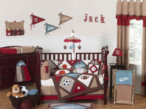 Great All Star Sports Baby Bedding pc Crib Set