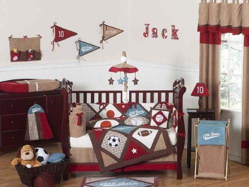 All Star Sports Baby Bedding 9pc Crib Set