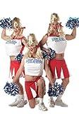 California Costumes Men's Varsity Cheerleader,Red/White,One Size Costume