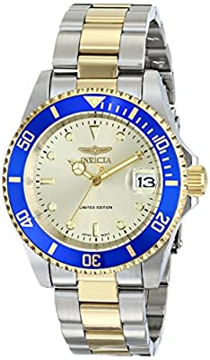 """Invicta Men's ILE8929OBASYB Limited Edition """"Pro Diver"""" Two-Tone Automatic Watch with Link Bracelet"""