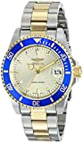 "Invicta Mens ILE8929OBASYB Limited Edition ""Pro Diver"" Two-Tone Automatic Watch with Link Bracelet"