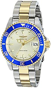 Invicta Men's ILE8928OBASYB Pro Diver Analog Display Japanese Automatic Two Tone Watch