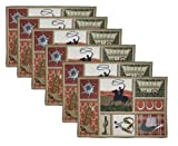 Park B. Smith Western 6-Piece Tapestry Placemat Set 12-1/2 by 19-Inch