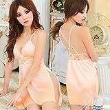 Dreamy house Sexy Deep-V Lingerie Backless Lace Babydoll Women Slit Dress D6149