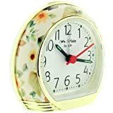 W M Widdop Girls - Ladies Yellow Leaf Design Snooze Backlight Alarm Clock