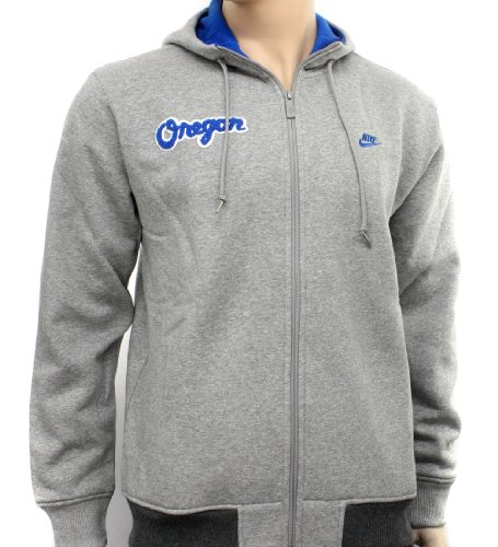 Nike Oregon Grey Mens Hooded Zip Sweatshirt Hoody Size M