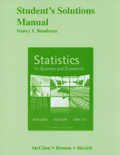 Student Solutions Manual for Statistics for Business and...
