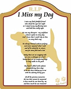 Amazon.com - I Miss My Beagle Dog  8x10 (Male) Poem with Full Color
